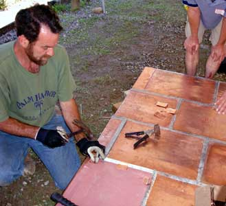 flat-lock copper roofing workshop